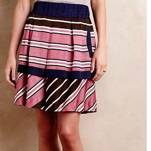 Anthropologie Maeve Skirt NWT in Ellery Stripe